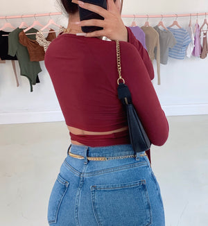 davina top (BURGUNDY/WINE)