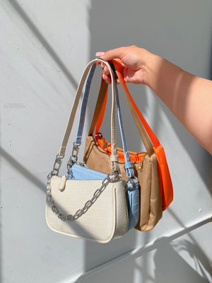 miriam nylon shoulder bag (TAUPE)