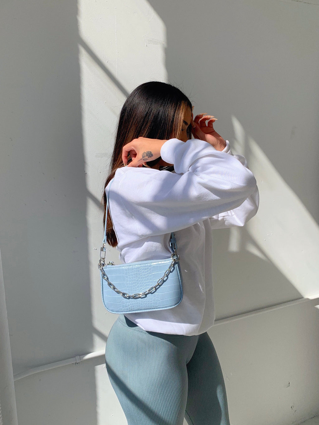 marley chain bag (BABY BLUE)