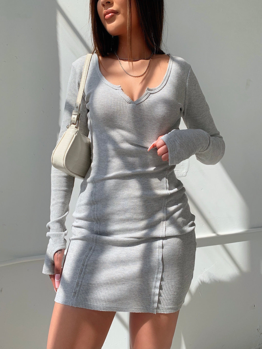 naya dress (HEATHER GRAY)
