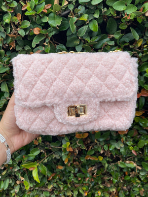 teddy purse (BABY PINK)