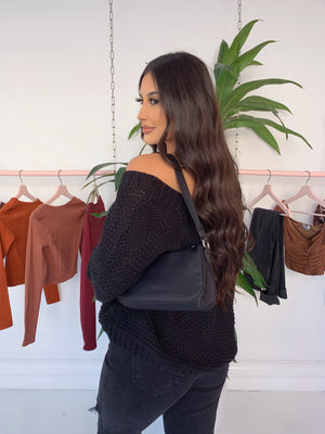 araceli knit sweater (BLACK)