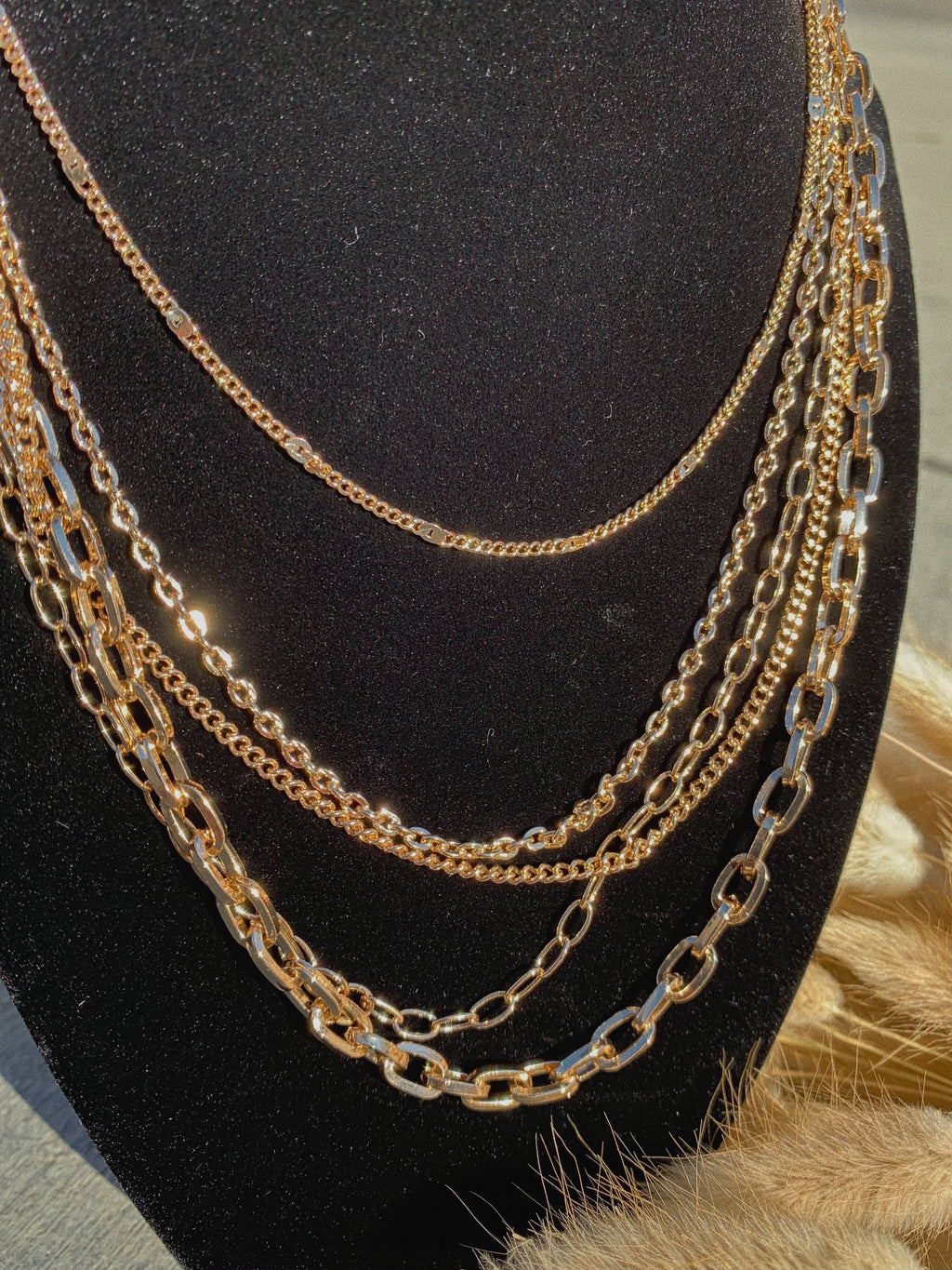 the essential layered necklace (GOLD)