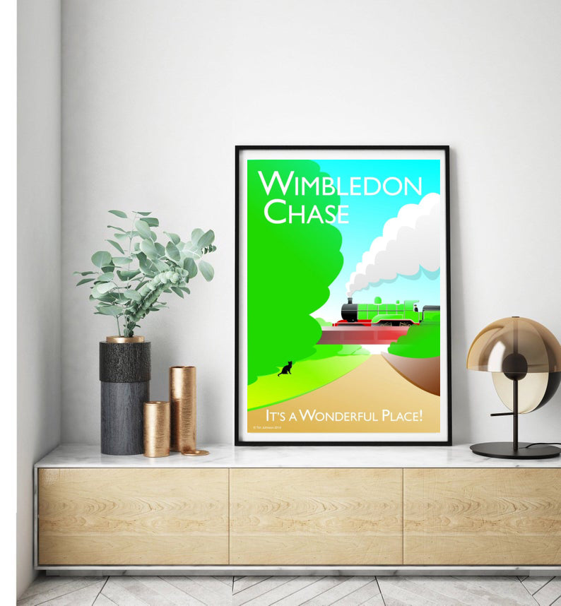 Wimbledon chase vintage style poster, featuring