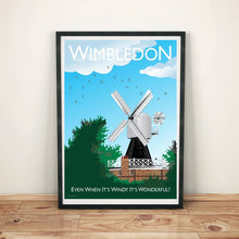 Load image into Gallery viewer, Wimbledon Windmill Poster Vintage Style London