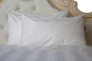 Chaba luxury hotel white pillowcase fabric cotton T320 5cm striped jacquard