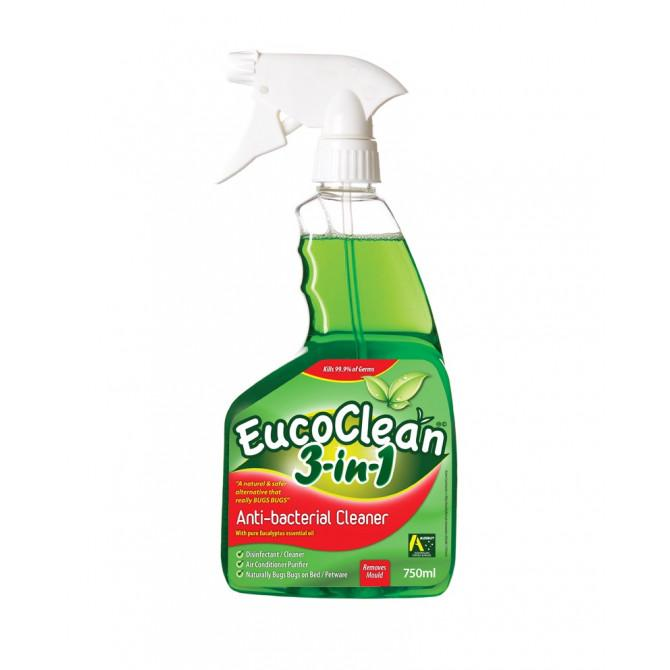 EUCOCLEAN Anti-Bacterial Cleaner 3-in-1 Surface Spray - 750ml