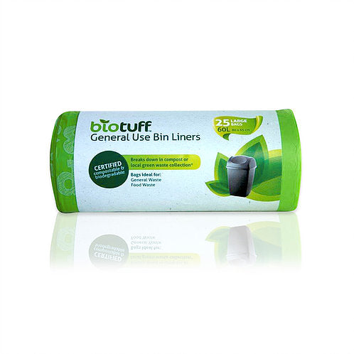 Bio Tuff Medium bin liners Medium 30l x 25