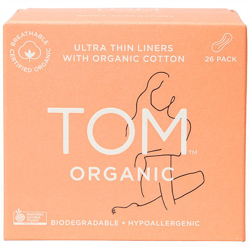 TOM ORGANIC Ultra Thin Panty Liners Wraped x 26