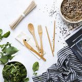 Ever Eco Bamboo cutlery set with chopsticks 1 pack