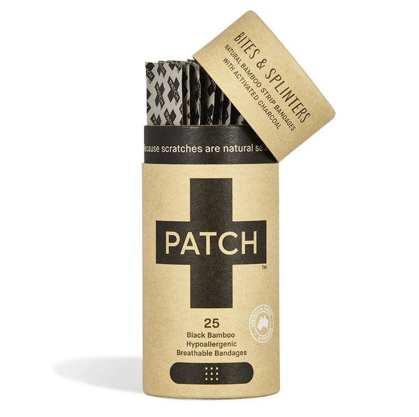 Patch Adhesive Bamboo Bandages Activated Charcoal - Tube of 25