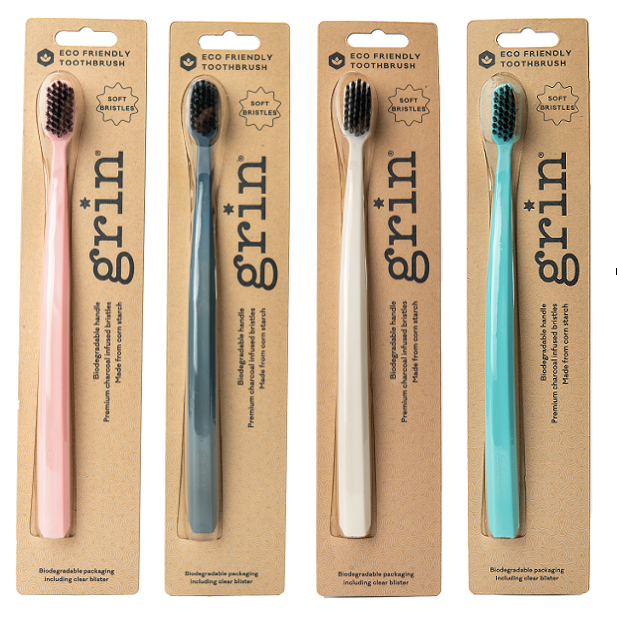 GRIN Biodegradable Toothbrush