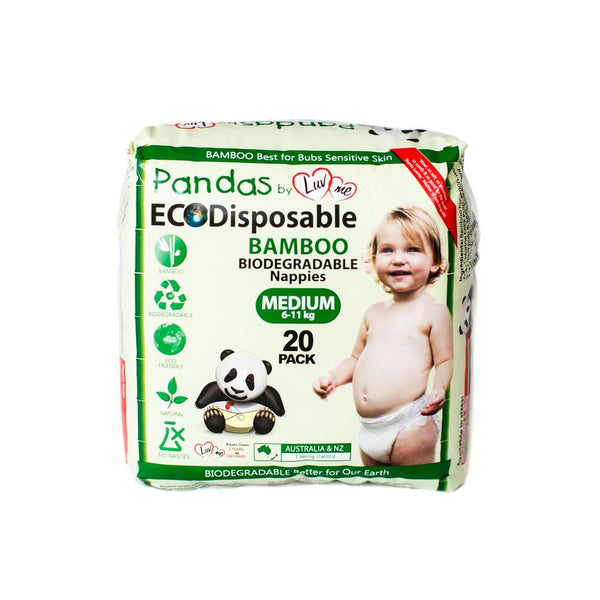 Luvme Bamboo Disposable Nappies Medium (6-11kg) x20