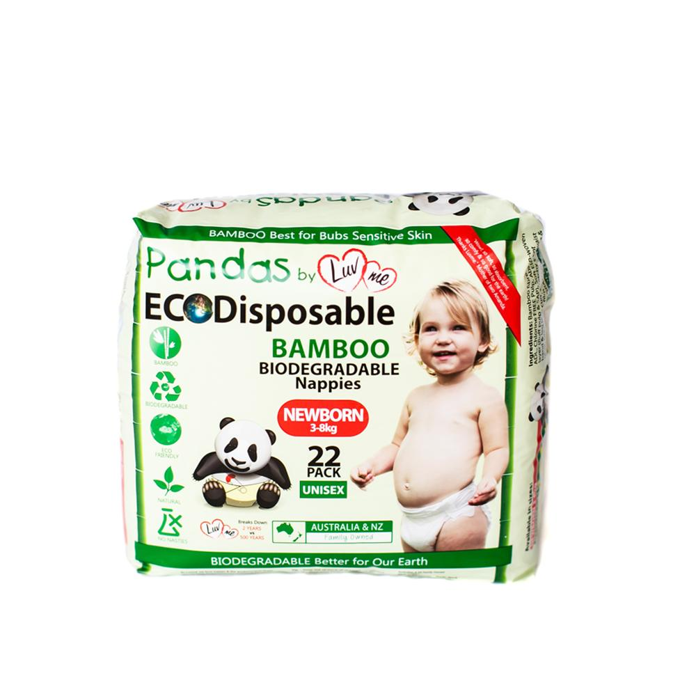 Luvme Bamboo Disposable Nappies Newborn (3-8kg) x22