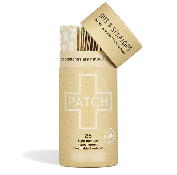Patch Adhesive Bamboo Bandages Natural - Tube of 25