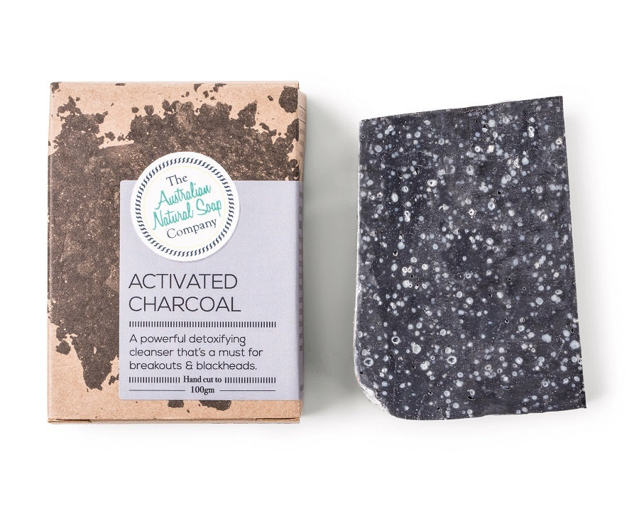 The Australian Natural Soap Co Activated Charcoal 100g