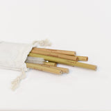 Bamboo Reusable Straws 8 Pack