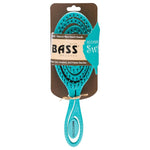 BASS BRUSHES Bio-Flex Detangler Hair Brush (TEAL)