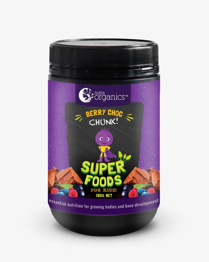 NUTRA ORGANICS Super Foods for Kids Berry Choc Chunk 150g Powder