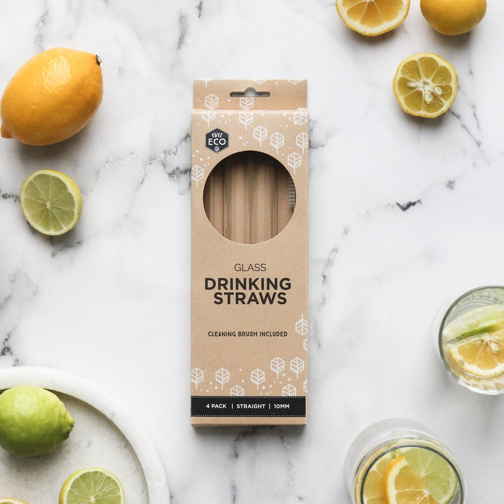 Ever Eco Glass Straws Straight 4 Pack