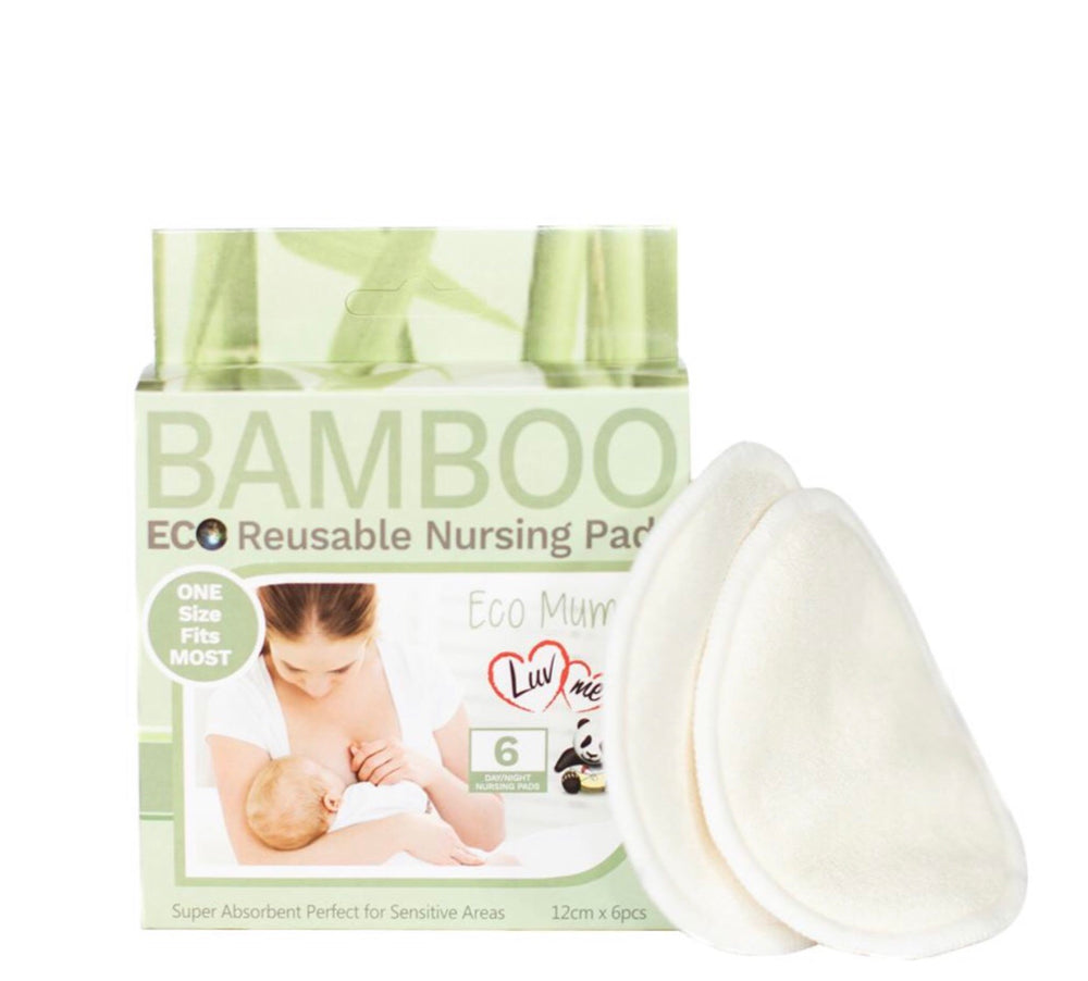 Luvme ECO Bamboo Reusable Breast Pads - 6pk
