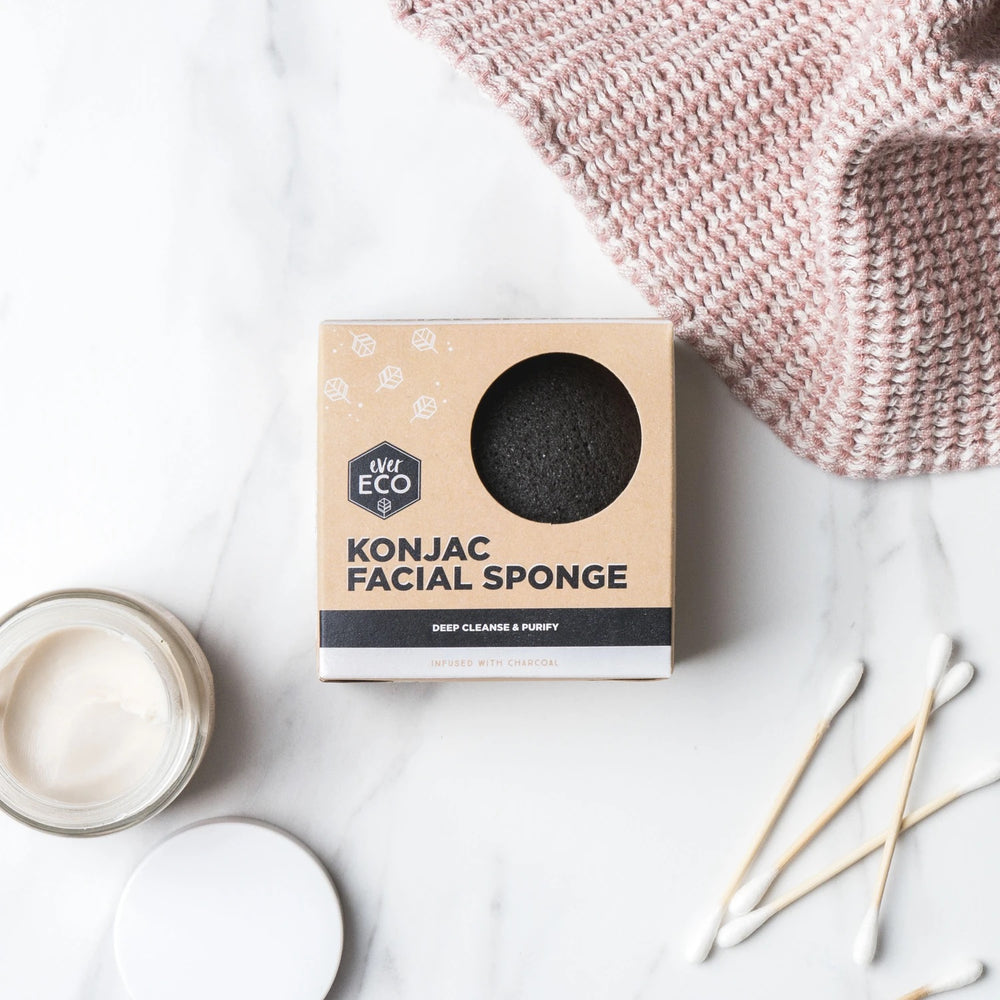 EVER ECO Konjac Facial Sponge Charcoal