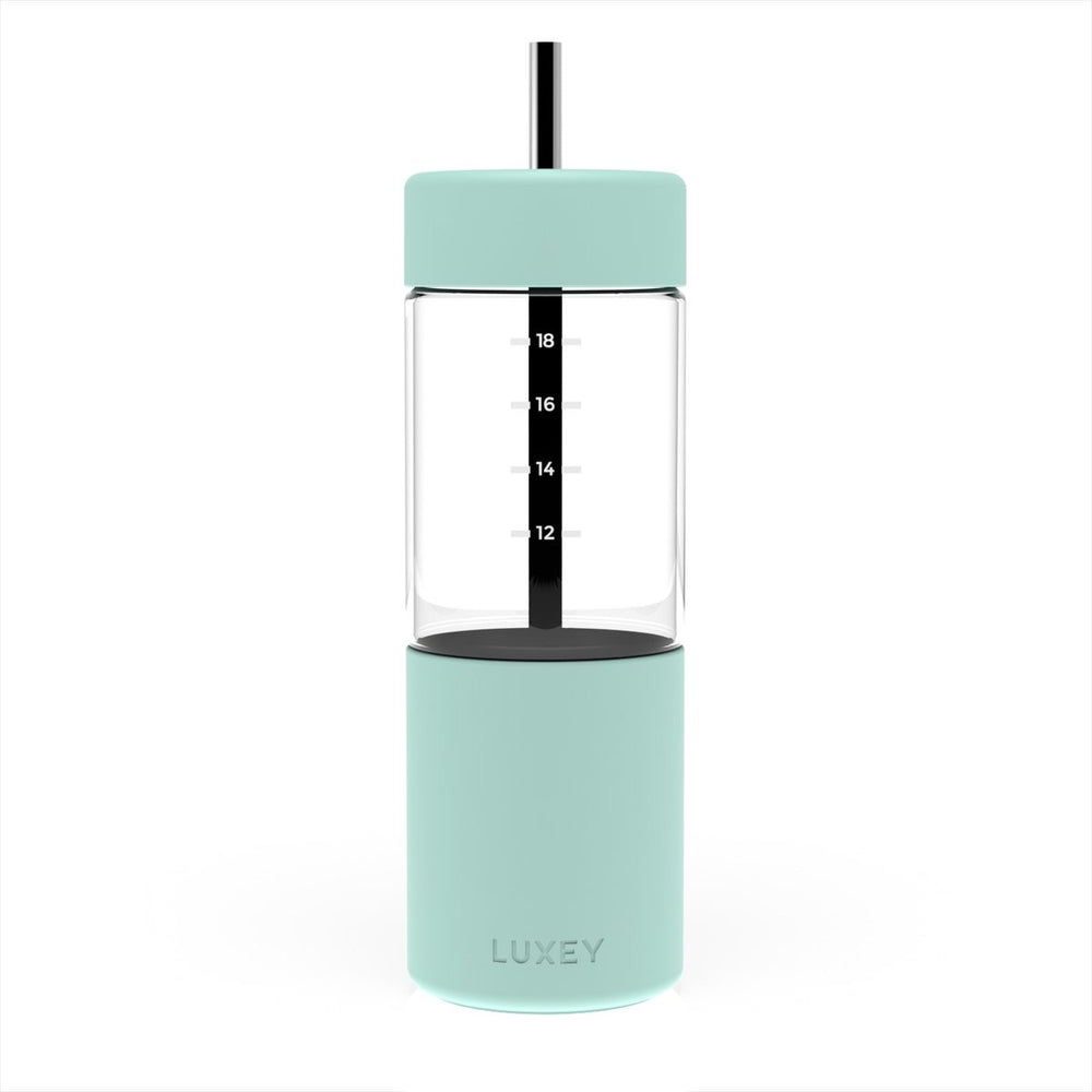 Luxey Reusable Glass Smoothie Cup (Minty)