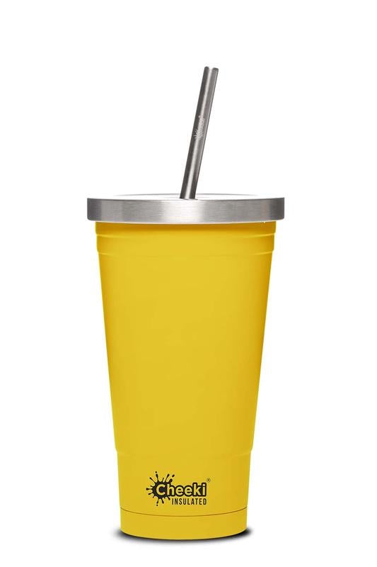 Cheeki Stainless Steel Insulated Tumbler - Lemon