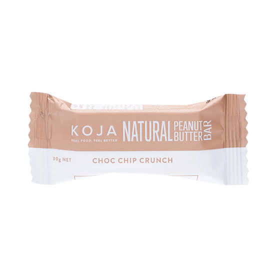 KOJA Natural Peanut Butter Bars Choc Chip Crunch 30g
