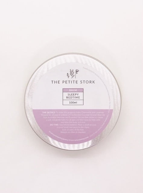 The Petite Stork Sleepy Bedtime Balm 100ml