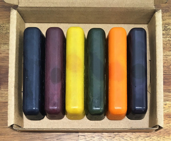 ECO CRAYONS STICKS - 6 COLOUR BOX