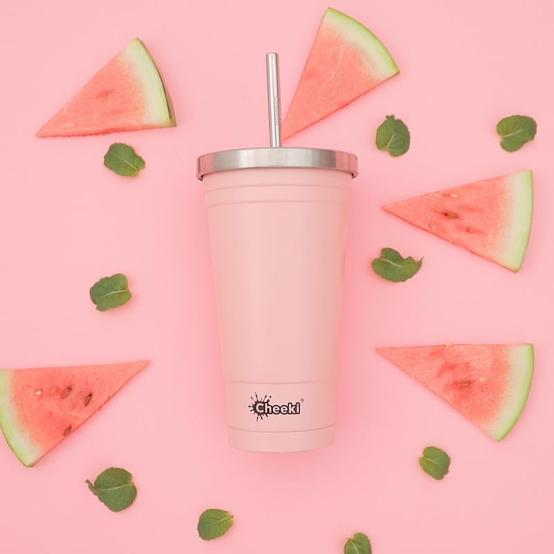 Cheeki Stainless Steel Insulated Tumbler - pink