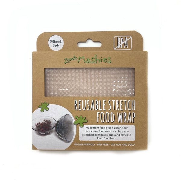 Little Mashies Reusable Stretch Food Wrap Set of 3 (S,M,L)