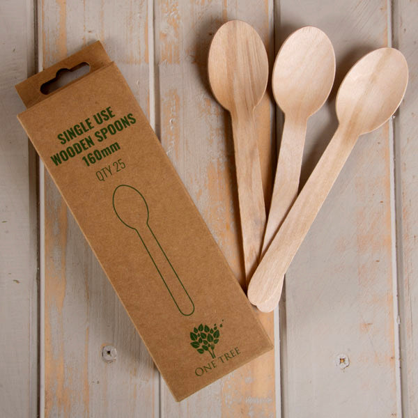One Tree Wooden Spoons Pack of 25