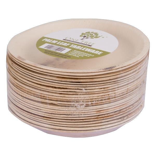 One Tree Palm Leaf Eco Plate - Round Flat 180mm