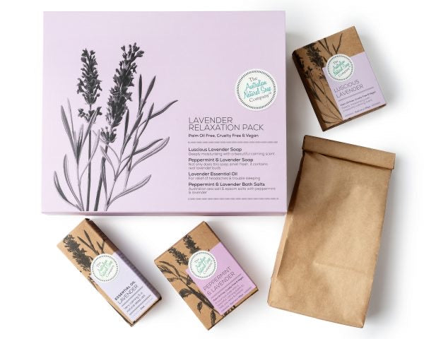 THE AUST. NATURAL SOAP CO Lavender Relaxation Gift Pack
