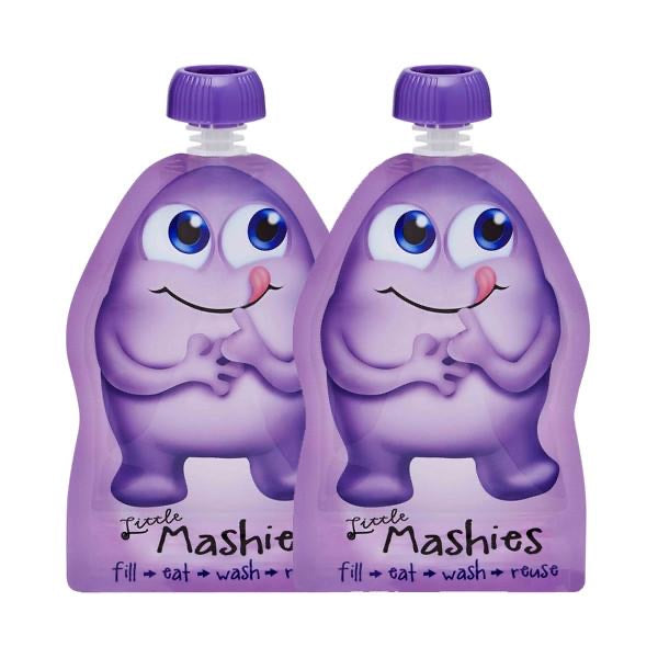 Little Mashies Reusable Food Pouch - Purple x 2