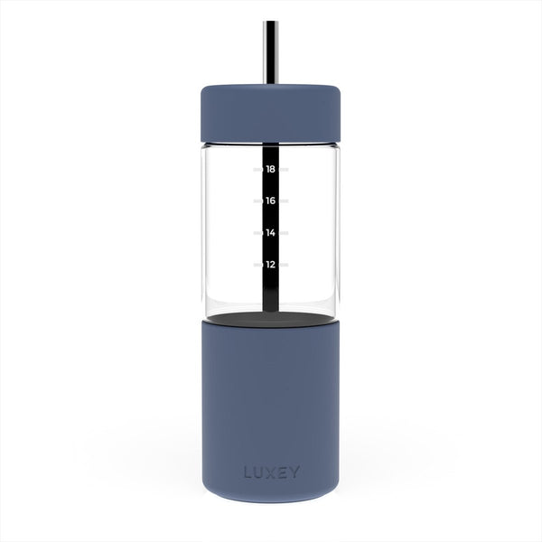 Luxey Reusable Glass Smoothie Cup (Element Blue)