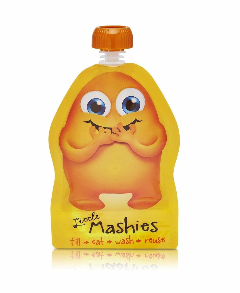 Little Mashies Reusable Food Pouch - Orange x 2