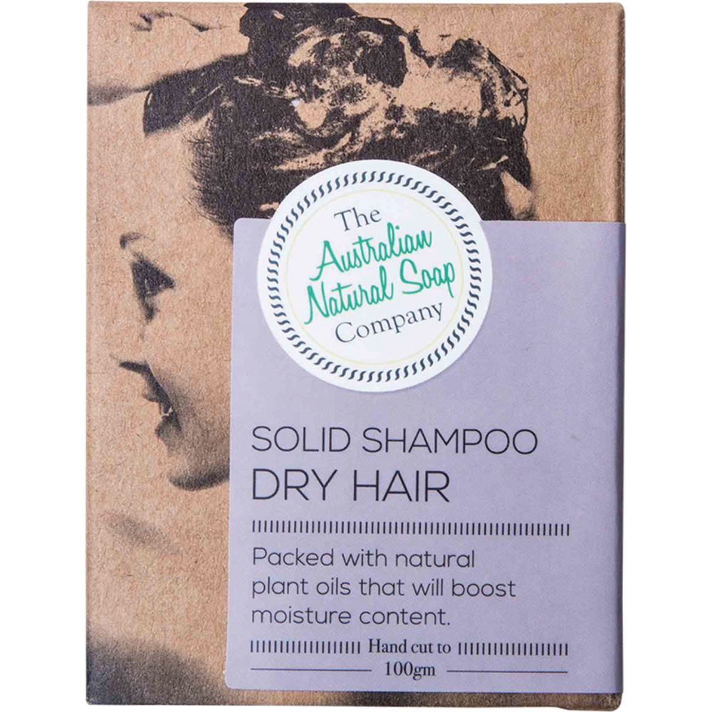 The Australian Natural Soap Co Solid shampoo (Dry Hair) 100g