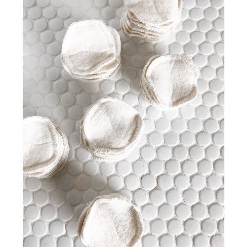Cotton Facial Rounds - Natural White (set of 10)