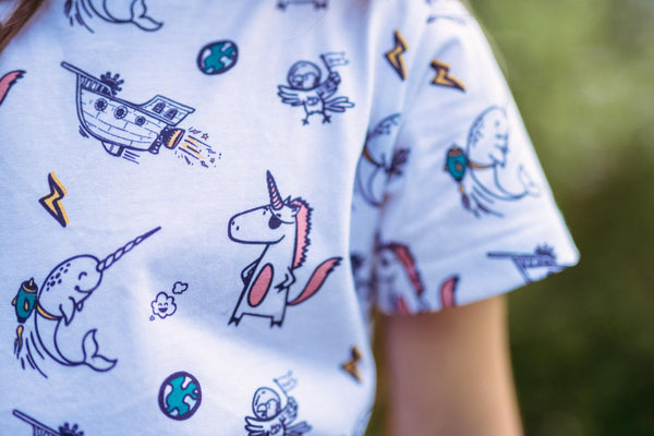 Kids Organic Cotton Longline Tee // Imagination
