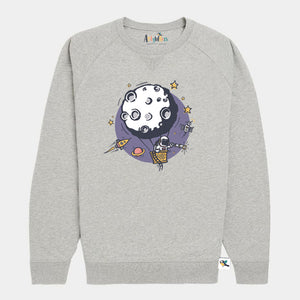 Kids Organic Cotton Sweatshirt // Outer Space
