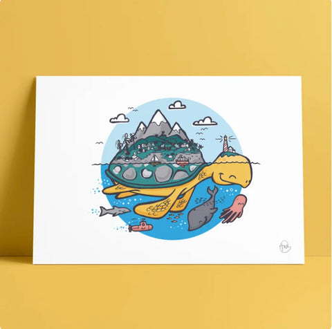 Ocean Artwork Print // Turtle Island