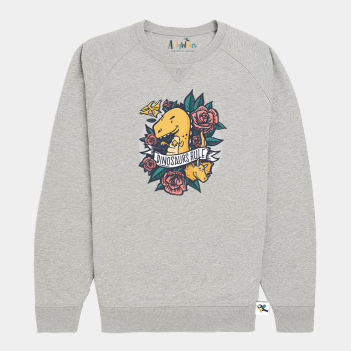 Kids Organic Cotton Sweatshirt // Prehistoric
