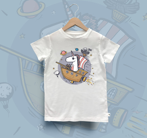 Kids Organic Cotton Tee // Imagination Theme