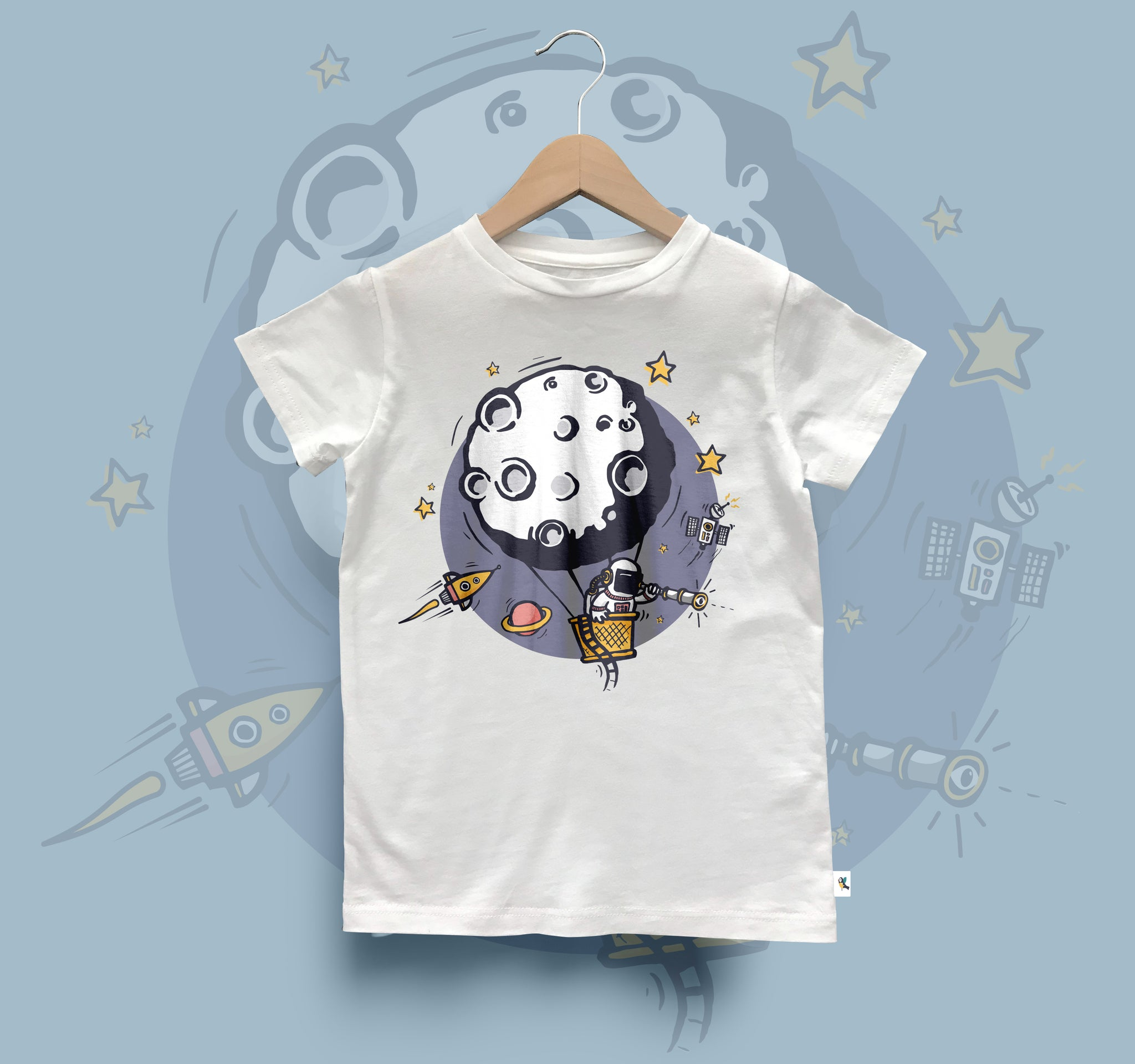 Kids Organic Cotton Tee // Outer Space Theme
