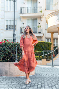 Cheree Dress - Rust