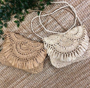 Carlise Clutch Natural/Tan