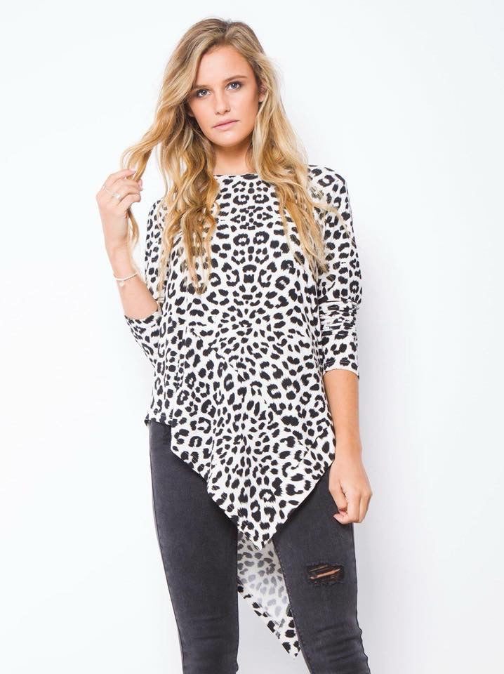 Trixie leopard angle top